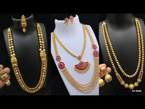 Gold Haram Designs 2020 Latest Long Gold Haram Collection Youtube