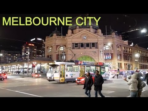 MELBOURNE CITY CENTER NIGHT TIME