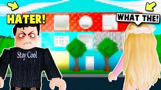 I LET MY HATER DECIDE HOW I BUILD MY NEW MANSION ON BLOXBURG! (Roblox)