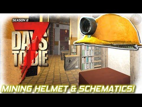 Mining Helmet And Late Night Schematics | 7 Days To Die Gameplay | EP3