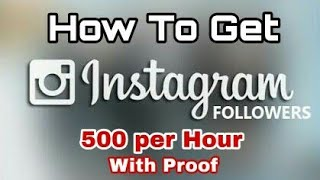 How To Get Unlimited Instagram Followers (Hindi)