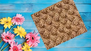 Узор для вязания спицами Плетенка. The pattern for knitting braids