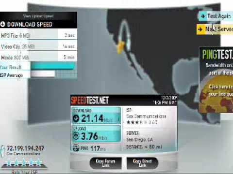 WiFi Speed Test 802.11n vs 802.11g (Linksys Wireless-N Router)