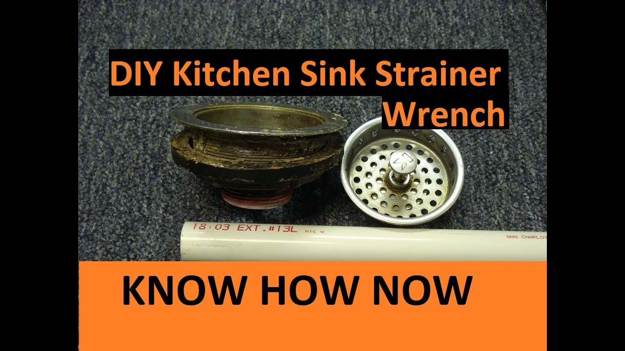 Diy Kitchen Sink Strainer Wrench Youtube