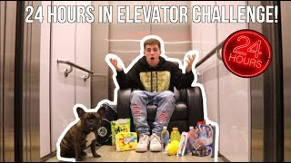 24 Hours In An Elevator Challenge!