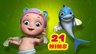 Baby Shark - Going to School | Rhymes and Baby Songs | Infobells