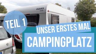 Das erste Mal aขf dem Campingplatz   Wie es ist einen Wohnwagen zu mieten   Teil1