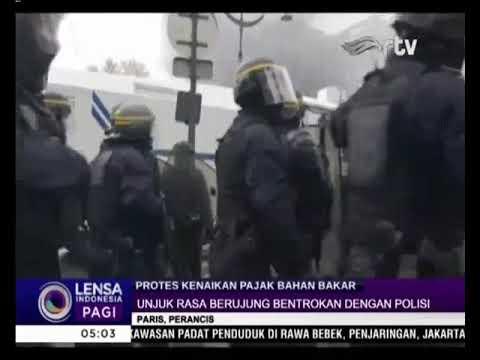 Rusuh! Demonstrasi Protes Kenaikan Pajak Bahan Bakar di Paris Mp3