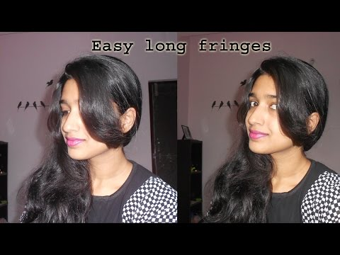 how to cut long front fringes at home