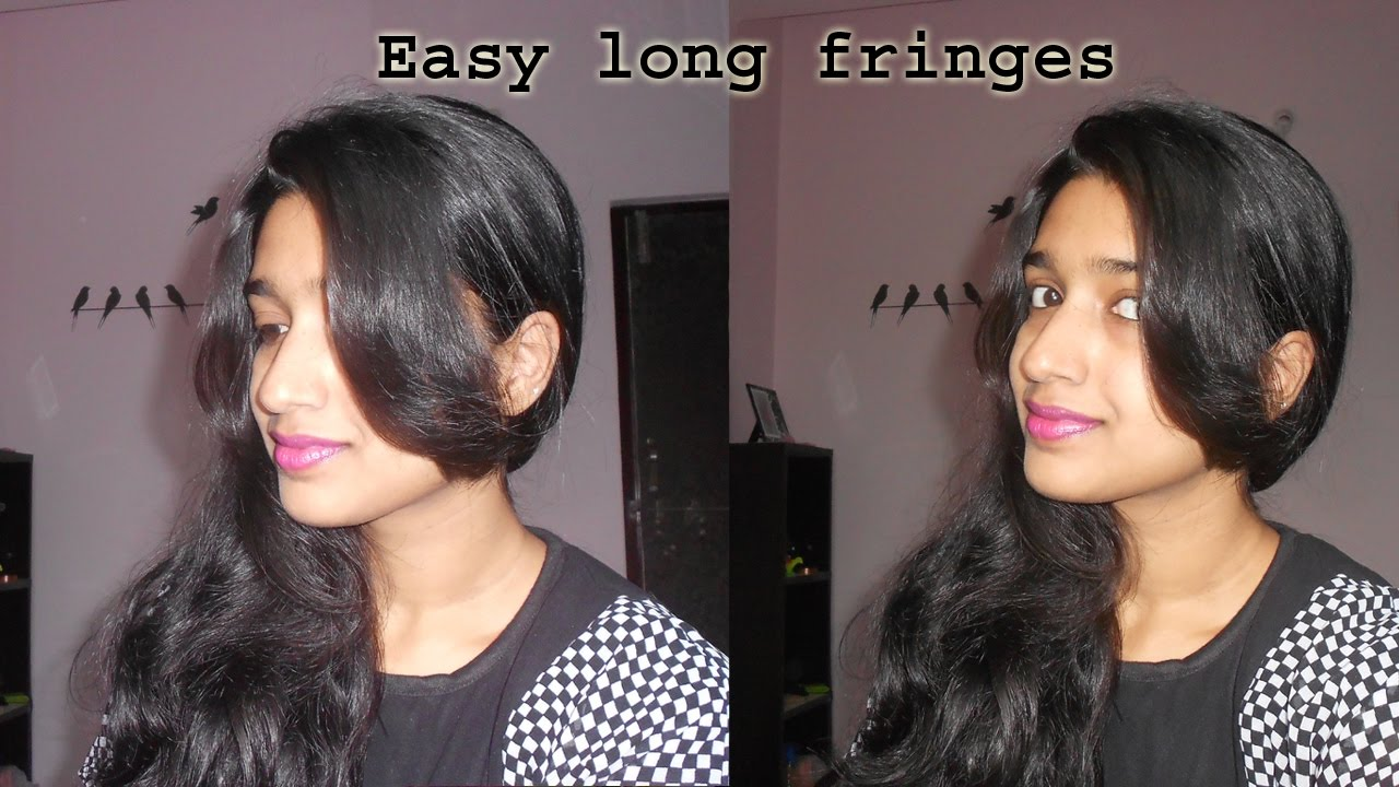 how to cut long front fringes at home   niya kumar - youtube