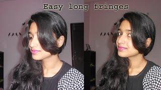 how to cut long front fringes at home | Niya Kumar