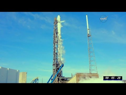Full Space X Falcon 9 CRS-13 NASA-TV Launch Coverage Of ISS Resupply Ship