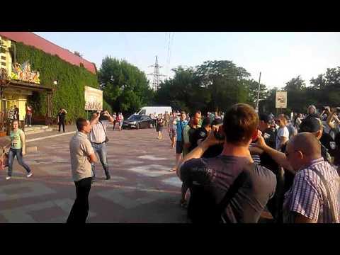 Стычка под конец встречи Надежды Савченко с николаевцами
