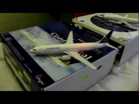 HD Die-Cast Model Continental Airlines Planes I Bought From West Main Toys in Hong Kong