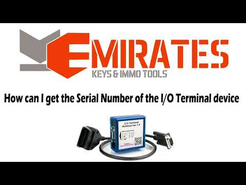 How can I get the Serial Number of the I/O Terminal device.