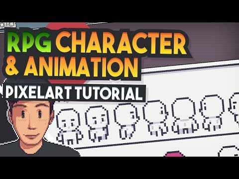 CHARACTER & ANIMATION Top down RPG (Pixel Art Tutorial)