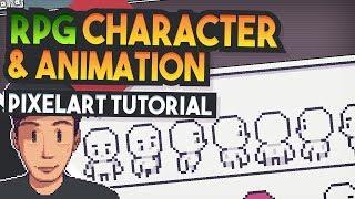 CHARACTER & ANIMATION Top down RPG (Pixel Art Tutorial)