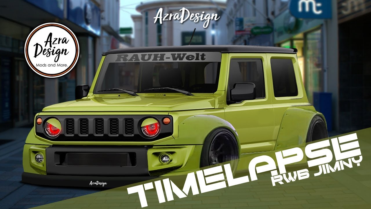 MODIFIKASI DIGITAL SUZUKI JIMNY 2018 RWB