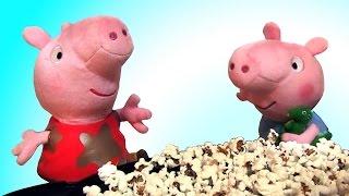 Эксперименты с черной кукурузой. Готовим с Джорджем. Попкорн - рецепт Свинки Пеппы.