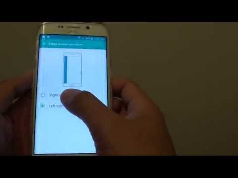 Samsung Galaxy S6 Edge: How to Change Edge Screen Position to Left or Right