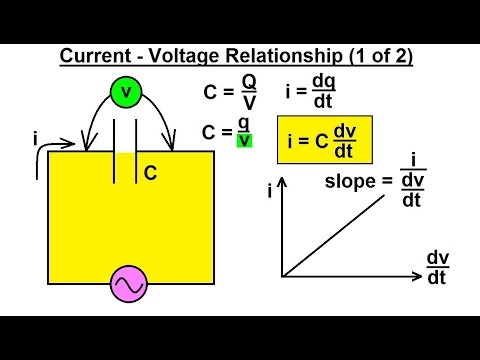 Electrical Engineering: Ch 6: Capacitors (7 of 26) Current - Voltage Relationship (1 of 2)