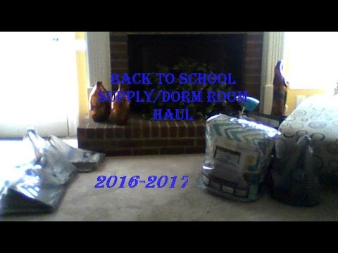 Back to School Supply/Dorm Haul 2016