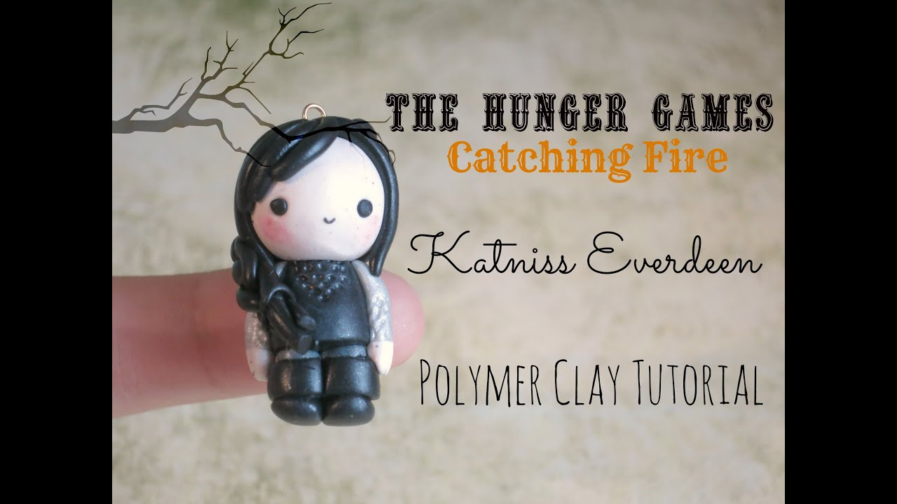 Catching fire katniss everdeen polymer clay tutorial youtube baditri Images
