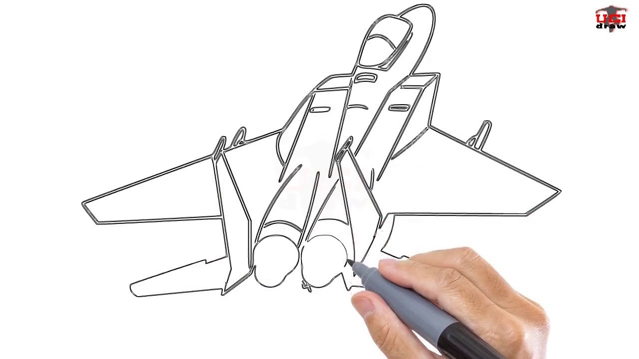 How To Draw A Jet Easy Step By Step Drawing Tutorials For Kids