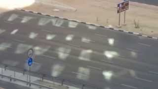 sheikh zayed road drifting & two wheels car stunts