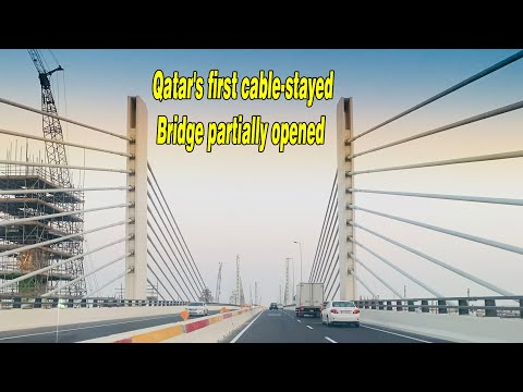 Qatar's first cable-stayed bridge