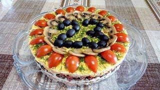 Самый Вкусный Салат для Мужчин из Ветчины , Копченой Колбасы , Сыра и Грибов  !  Новый  Рецепт !