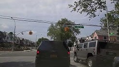 Driving by East Elmhurst in Queens,New York