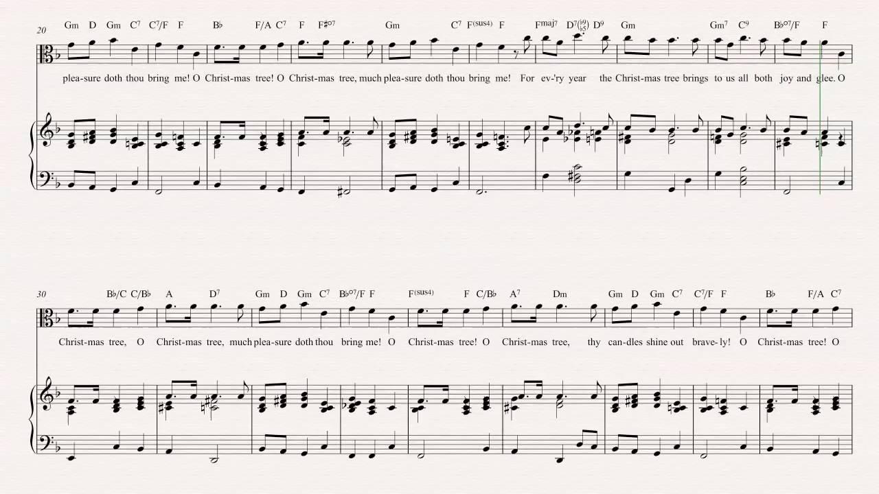 Viola - O Christmas Tree - Christmas Carol - Sheet Music, Chords ...