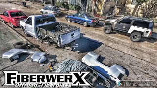Rebuilding A Wrecked 2016 Silverado Z71 Single Cab Part 3 - Fiberwerx Bedsides Install