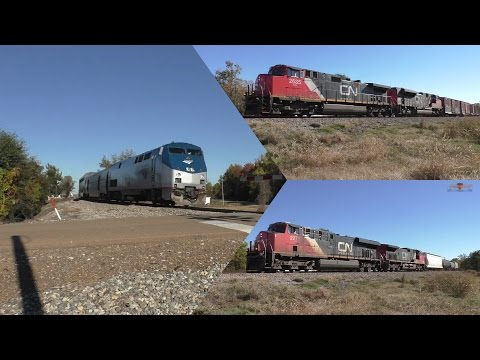 Amtrak City of New Orleans #59, CN A489 and A41971 through Glendora, Mississippi-11.21.16