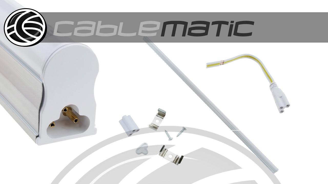 Tubo led t5 230vac 16w blanco d a 6000k 16x1200mm - Como instalar lamparas led ...