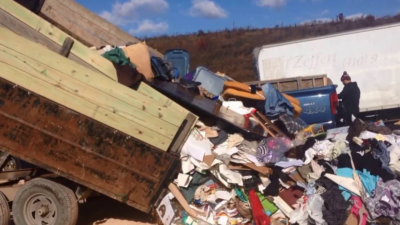 How to make money doing junk removal - Tour the landfill and tips ...