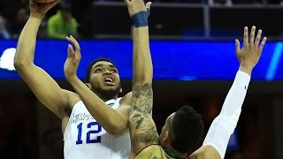 Notre Dame vs Kentucky: Karl-Anthony Towns and-one