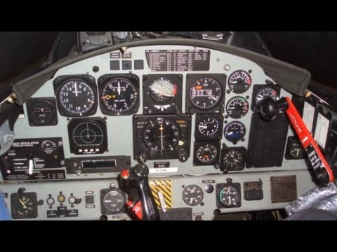 F104 Fighter Jet Cockpit -  Analog Instruments, Controls and Buttons - Flight Simulator - HAF Museum