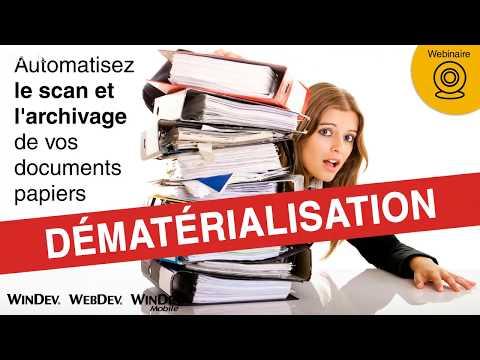 D�mat�rialisation : automatisez le scan et l † archivage de vos documents papiers