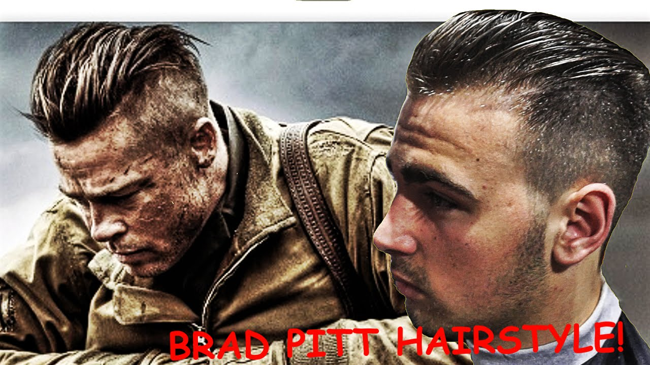 Brad Pitt Hair Tutorial From Fury Undercut Hairstyle Barbero
