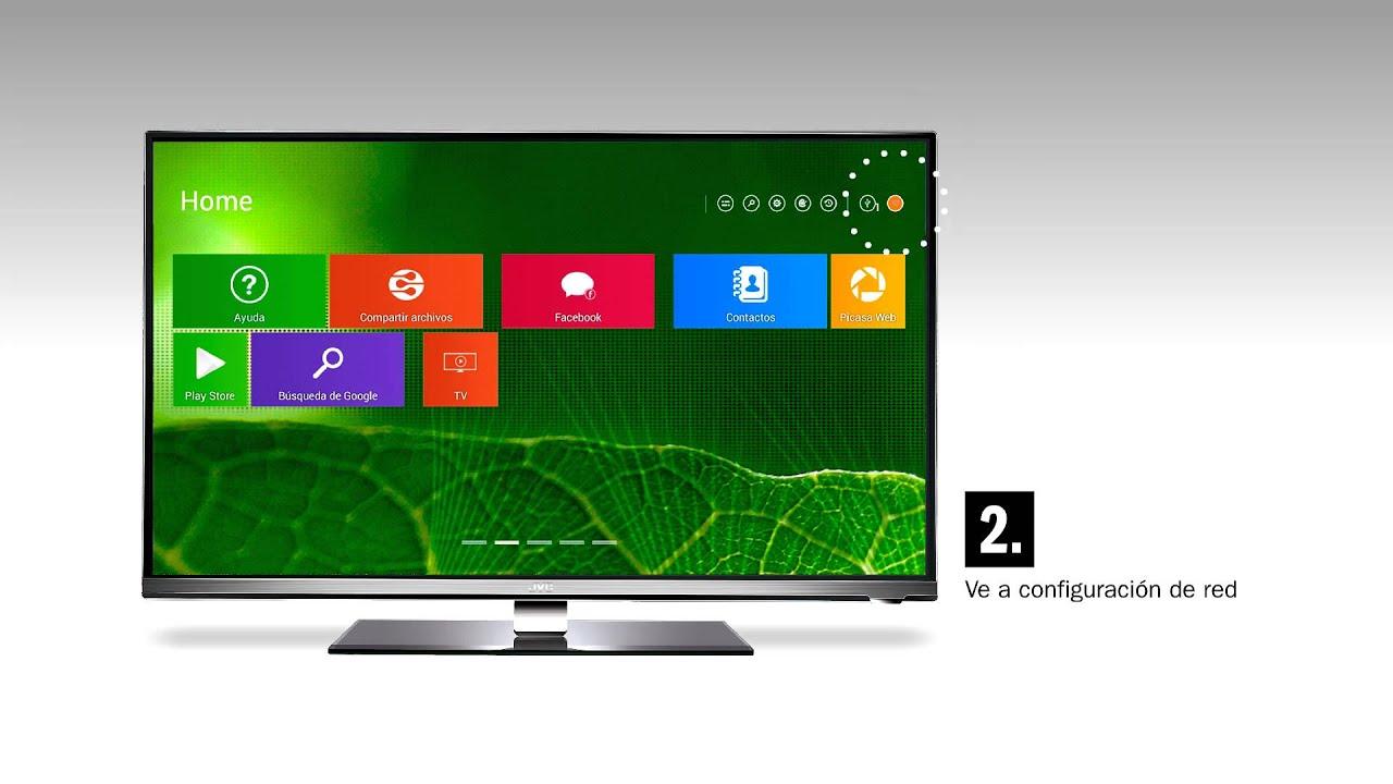 Cómo acceder a Internet Smart TV JVC LT-55N935B 55