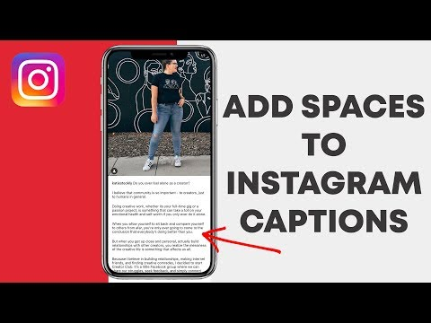 How to add spaces to Instagram Captions & Bio (EASY!) - YouTube