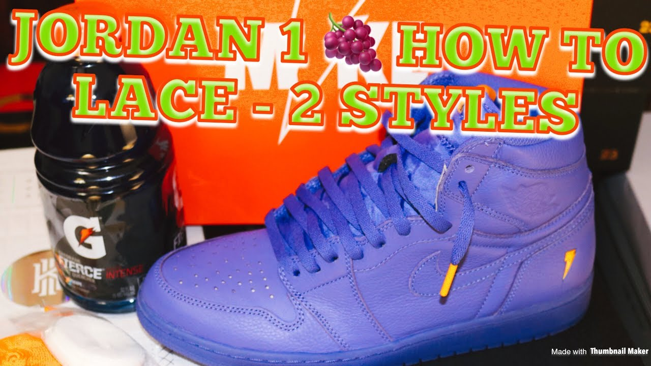 fddf175b666d HOW TO LACE JORDAN 1 GRAPE - 2 STYLE LACE TUTORIAL - YouTube