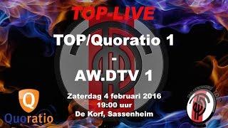 TOP/Quoratio 1 tegen AW.DTV 1, zaterdag 4 februari 2017