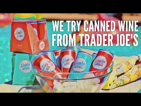 We Try Canned Wine From Trader Joe's