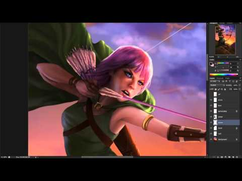 The Making of 'Clash of Clans' Archer fan-art'