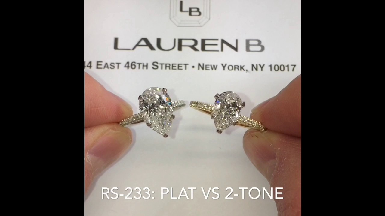 Pear Shape Diamond Engagement Rings Comparison Youtube