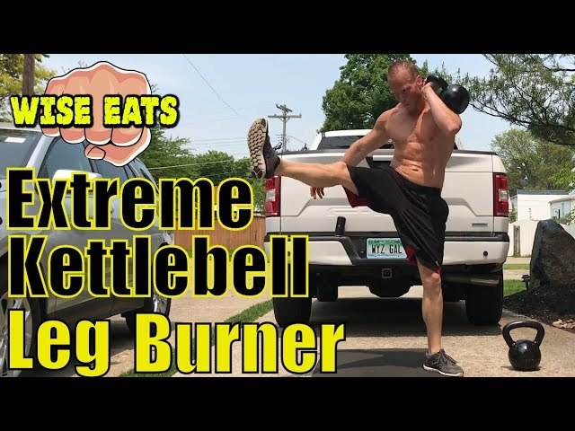 The Leg Burner – 6 Minute Extreme Kettlebell HIIT Cardio Workout Session #3 (Wise Lifts)