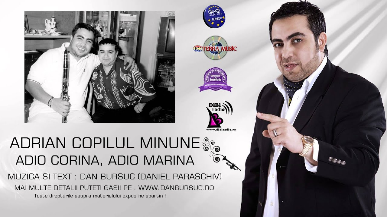 ADRIAN MINUNE - ADIO CORINA, ADIO MARINA